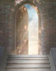 "The ""door of faith"" always opens to a life of faith lived in love of God and neighbor, a hope for a better world. It ""ushers us into the life of communion with God, and offers entry into His Church""."